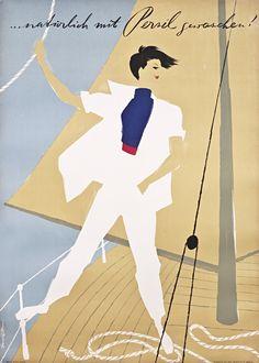 Donald Brun Poster: ...naturlich mit Persil gewaschen