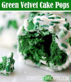 Green Velvet Cake Pop Balls at Love From The Oven