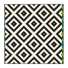 Not sure about the blue and green but might be able to paint the sides...    LAPPLJUNG RUTA Rug, low pile - white/black - IKEA