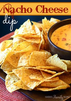Our FAVORITE Nacho Cheese Dip!  Easy and delicious!