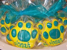 Paw Prints from Painted Cookie!