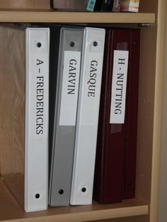 Organize Genealogy with Binder System - I use binders and file drawers. One day I will have a system the works 100 percent. Binders for each family surname is a great idea...
