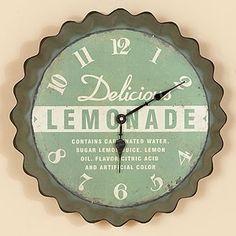 Lemonade Wall Clock   Shop home, interior_design  Kaboodle