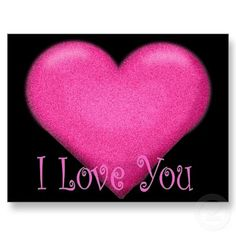 PINK HEART, I LOVEYOU,POST CARD