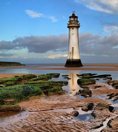 Perch Rock leading... by Tony Reily Near the mouth of the Mersey River near New Brighton Fort, New Brighton England
