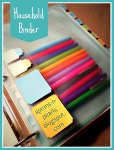aprons 'n pearls: Household Binder, Part 1