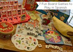 7 fun board games to play in spanish
