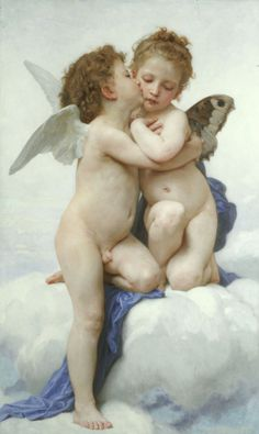 First Whisper Of Love by Adolphe William Bouguereau