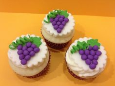 Grape Fondant Cupcake Toppers.
