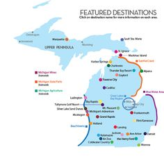 Featured Destination Locations - Pure Michigan Travel #Puremichigan #travel