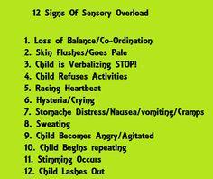 signs of sensory overload