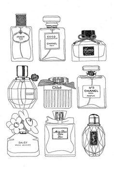 Drawn bottles.