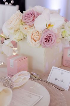 white fabric wrapped boxes...
