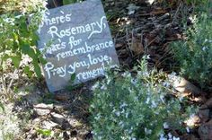Slate Tile DIY Garden Signs. birdsandblooms.com