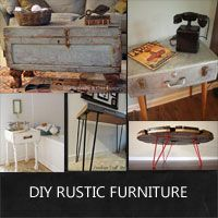 DIY rustic furniture that is made from piecing together salvaged finds.