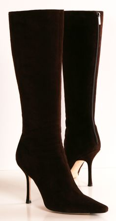 JIMMY CHOO BOOTS (Chocolate Suede)