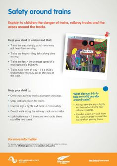 Road safety education news. July 8 2013. Rail safety week in August includes a rap, song and poem competition for school students. Curriculum resources, info sheets and posters on rail safety are available from the NZTA.