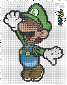 Luigi cross stitch pattern - free cross stitch patterns