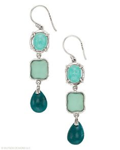 Going #green has never been prettier with these #Sterling #Silver, #Howlite, #Quartzite and #Glass #Earrings. #Silpada