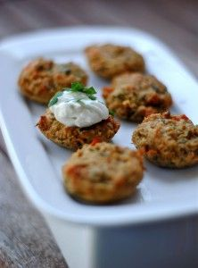 Baked Mini Crab Cakes {Fat Girl Trapped in a Skinny Body} Um, maybe these are not diet exactly.....