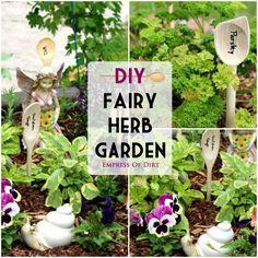 DIY Fairy Herb Garden - super cute, simple garden idea #spon