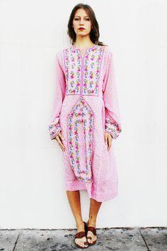 Pink Polka Dot Afghani Dress