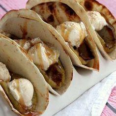 Grilled Apple Cinnamon A la Mode Tacos