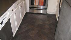 Vinyl Flooring Installed in Herringbone Pattern