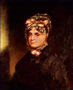 """Anna Harrison, America First Lady married to President William Harrison. She was too ill to travel when her husband set out from Ohio in 1841 for his inauguration. At the news of her husband's landslide electoral victory in 1840, home-loving Anna Harrison said simply: """"I wish that my husband's friends had left him where he is, happy and contented in retirement.""""  She never went to Washington as her husband died exactly one month after his inauguration."""
