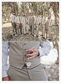 groom vest and pocket watch