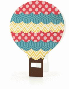 a2 Hot Air Balloon Shaped Card  | now 30% off in the Silhouette Online Store until July 31!