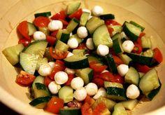 Healthy Recipe: Cucumber Avocado Caprese Salad