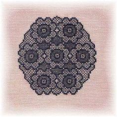 beautiful cross stitched lace free chart