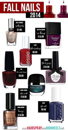 Fall Nail Polish Picks! #nails #notd #fallbeauty #fallnails