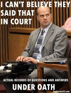 These are hilarious! Real statements in court.