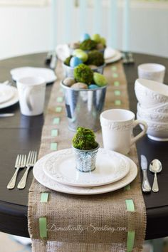 Spring Tablescape and Place Setting
