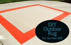 Less-Than-Perfect Life of Bliss: DIY Outdoor Rug for Less Than $25!
