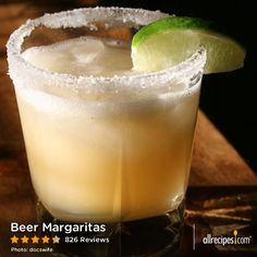 "Beer Margaritas | ""This is my go-to margarita recipe to make at home. I follow it exactly and they always turn out super tasty."""