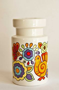 """Lord Nelson Pottery """"Gaytime"""" pattern sugar shaker"""