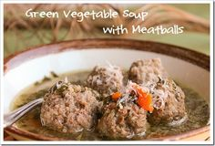 Simple, nourishing meatball soup