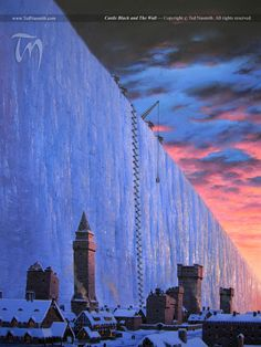 Castle Black and The Wall by Ted Nasmith