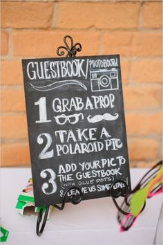wedding photo booth sign by ava