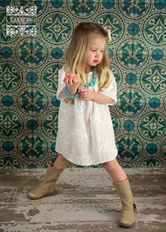 my friend, Janice, makes ADORABLE clothes for little people!  White Cotton Peasant Dress by Dress Baby Beautiful inspiring