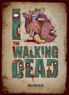 fan art, heart, stuff, zombi, walking dead, walk dead, walkingdead, posters, poster designs
