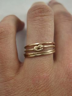 themodernexchange:  14K Gold Four Infinity Knot Stacking Rings | Gramercy Eight on Etsy