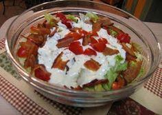 Layered BLT salad