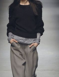 the poetry of material things tshirting pants, fashion work, 2014, winter looks, casual styles, cozy style, alexander wang, trouser, baggy pants style