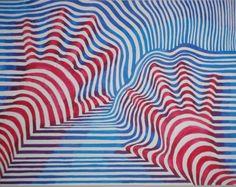op art hands; line, movement