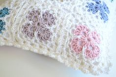 Square Crochet Pillow Cover With Insert  12 x 12 by chicmix