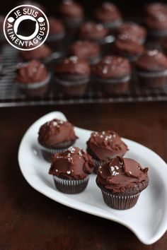 Dark Chocolate Ganache Cupcakes